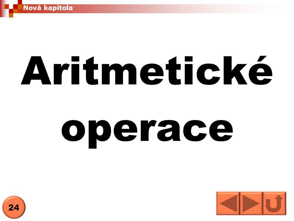 Nová kapitola Aritmetické operace 24