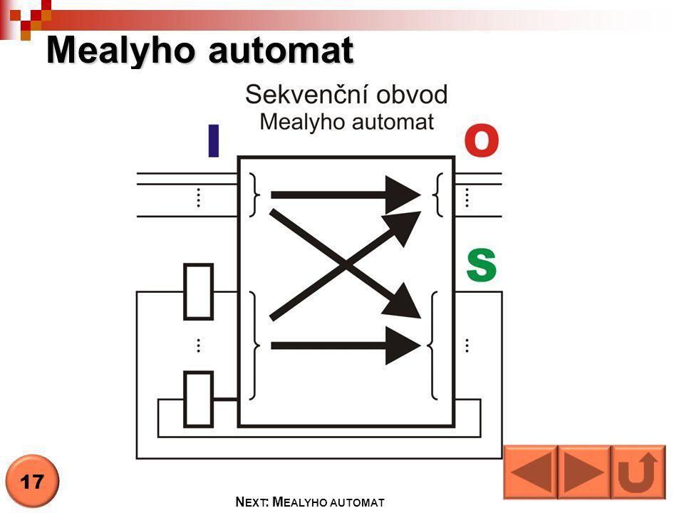 Mealyho automat 17 N EXT : M EALYHO AUTOMAT