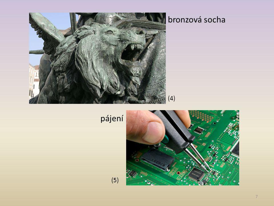 7 (5) (4) pájení bronzová socha