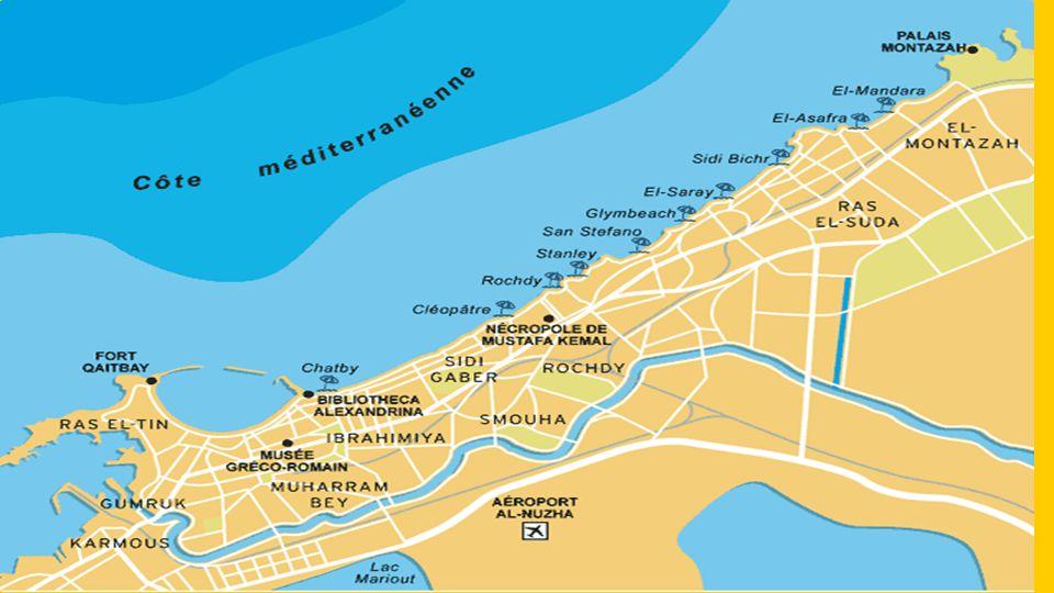Alexandria, perla Středomoří, je, jeden z nejdůležitějších egyptských přístavů, druhé největší město Egypta a hlavní město stejnojmenného guvernátu.