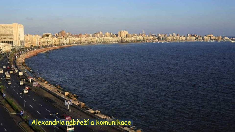 Alexandria, vých. Přístav panorama Alexandria, knihovna panorama