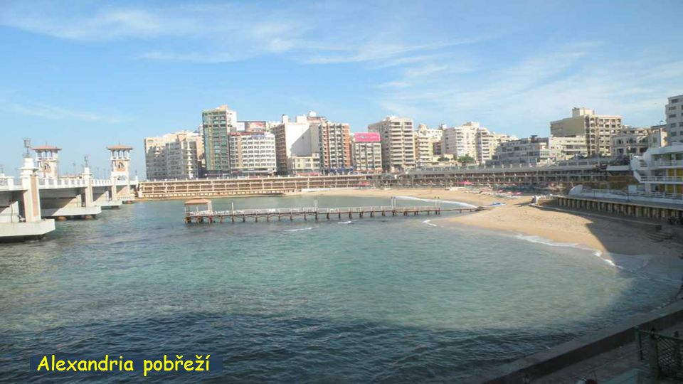 Alexandria nábřeží a komunikace