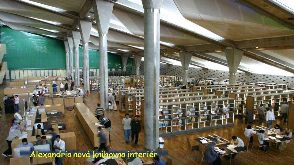 Alexandria nová knihovna interiér