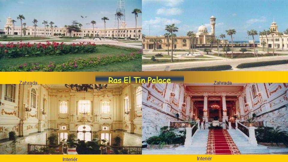 Ras El Tin Palace jídelna Vstup Fontána