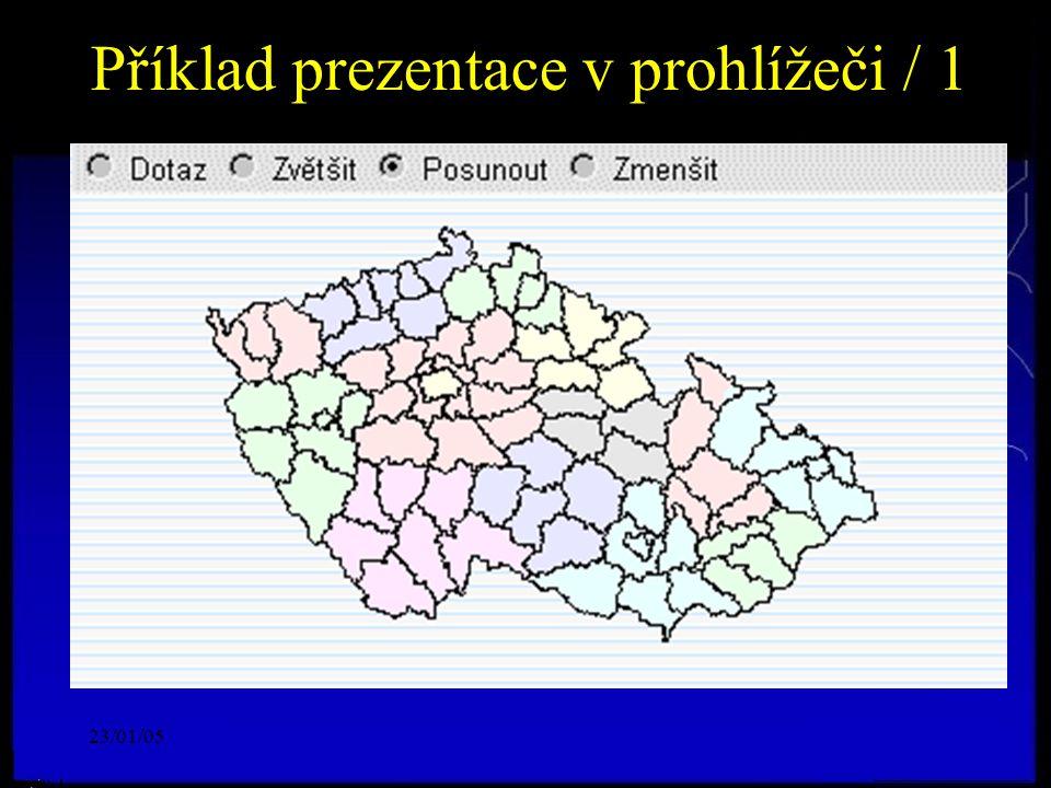 23/01/05 Příklad prezentace v prohlížeči / 1