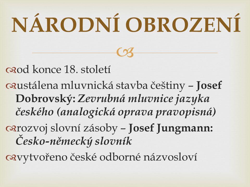   Dobrovského mluvnice poprvé zrevidována na konci 19.
