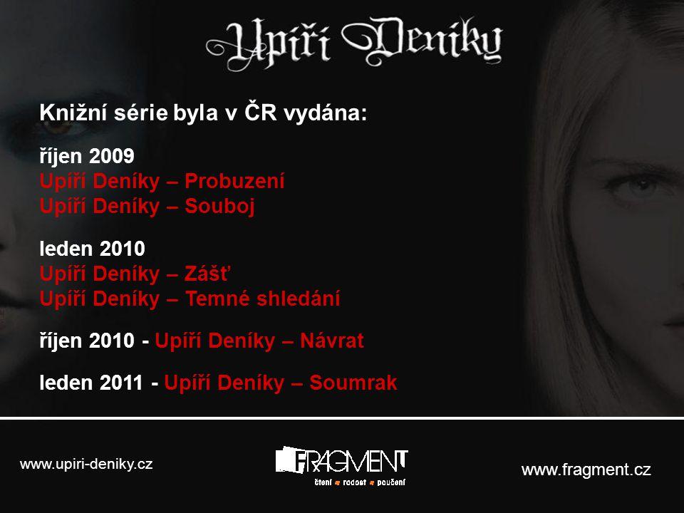 www.upiri-deniky.cz www.fragment.cz Zajímavé recenze na knihy z českého tisku: Studentpoint.cz: http://www.studentpoint.cz/168-knihy-a-literatura/2768-fascinuje-vas-krvavy-http://www.studentpoint.cz/168-knihy-a-literatura/2768-fascinuje-vas-krvavy- svet-upiru-prectete-si-jejich-deniky/ Topzine.cz: http://www.topzine.cz/vazna-konkurence-pro-stmivani-v-podobe-upirich-deniku/http://www.topzine.cz/vazna-konkurence-pro-stmivani-v-podobe-upirich-deniku/ Topzine.cz: http://www.topzine.cz/tajemny-svet-upirich-deniku-l-j-smithove-odkryva-sve-kouzlo/http://www.topzine.cz/tajemny-svet-upirich-deniku-l-j-smithove-odkryva-sve-kouzlo/ Neviditelnypes.lidovky.cz: http://neviditelnypes.lidovky.cz/recenze-l-j-smithova-upiri-deniky-http://neviditelnypes.lidovky.cz/recenze-l-j-smithova-upiri-deniky- probuzeni-fzq-/p_scifi.asp?c=A091214_211625_p_scifi_hpe Neviditelnypes.lidovky.cz: http://neviditelnypes.lidovky.cz/recenze-l-j-smithova-upiri-deniky-http://neviditelnypes.lidovky.cz/recenze-l-j-smithova-upiri-deniky- souboj-ffe-/p_scifi.asp?c=A100124_223500_p_scifi_hpe Neviditelnypes.lidovky.cz: http://neviditelnypes.lidovky.cz/recenze-l-j-smithova-upiri-deniky-http://neviditelnypes.lidovky.cz/recenze-l-j-smithova-upiri-deniky- zast-dhq-/p_scifi.asp?c=A100223_230156_p_scifi_hpe Webmagazin.cz: http://www.webmagazin.cz/index.php?stype=all&id=9934http://www.webmagazin.cz/index.php?stype=all&id=9934