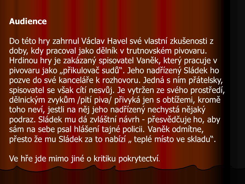 Zahradní slavnost je divadelní hra Václava Havla z roku 1963. Je považována za první českou absurdní hru.Hlavní postavou je mladý přičinlivý Hugo Plud