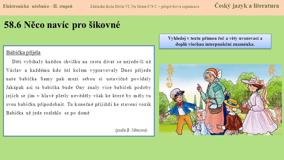 58.6 Něco navíc pro šikovné Elektronická učebnice - II.