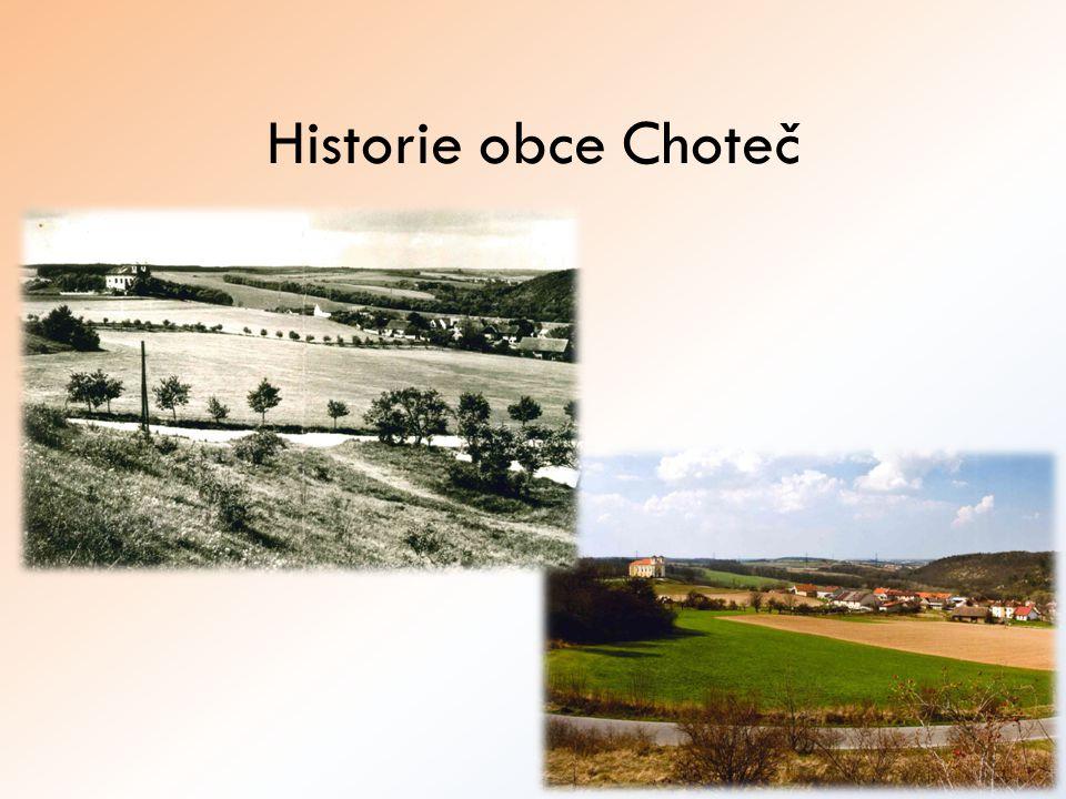 Historie obce Choteč