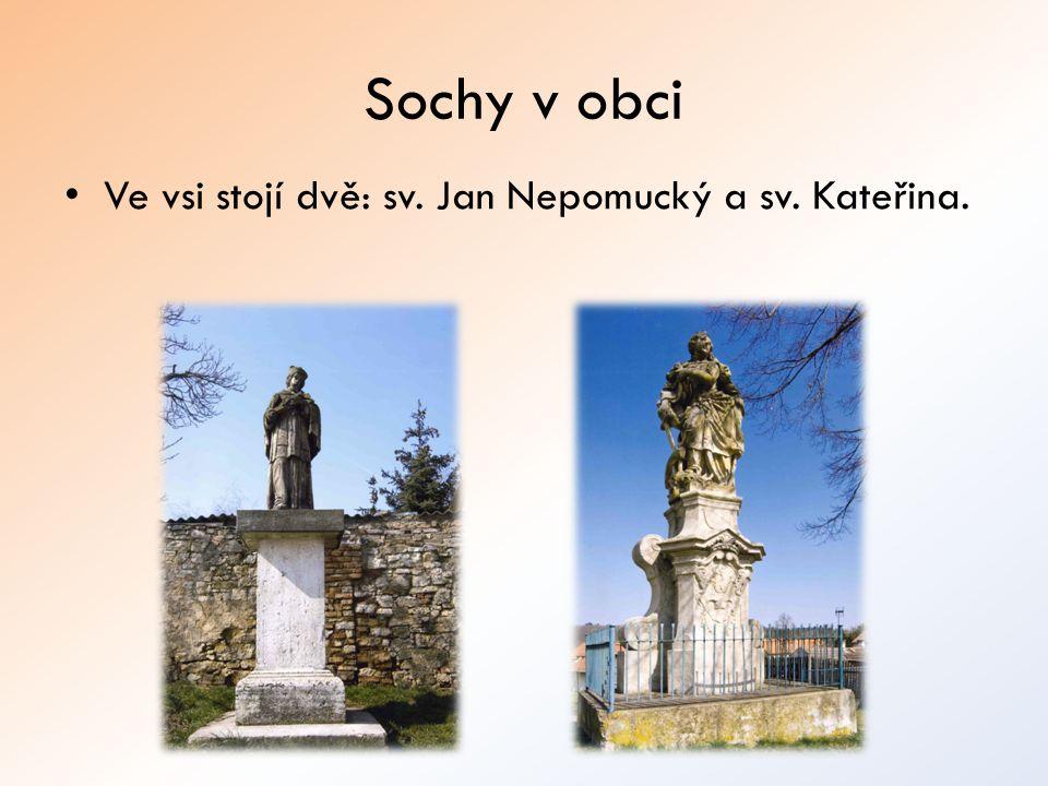 Sochy v obci Ve vsi stojí dvě: sv. Jan Nepomucký a sv. Kateřina.