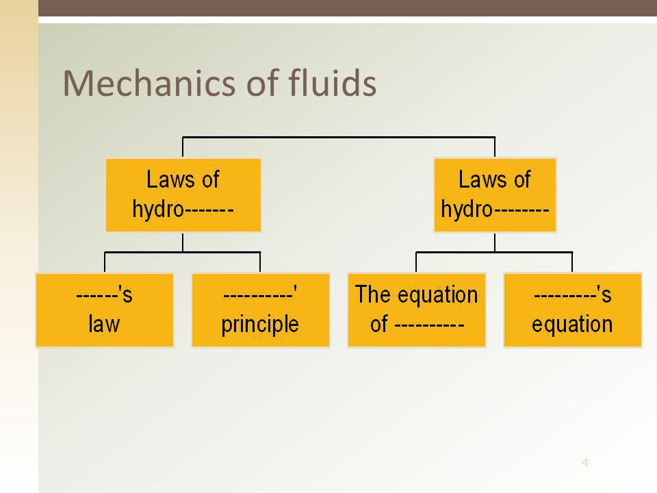 4 Mechanics of fluids