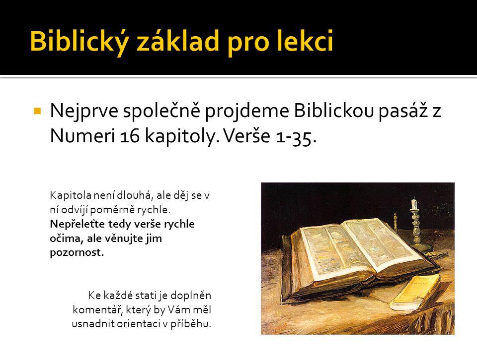  Vzpoura Kóracha, Dátana, Abírama a Óna a 250 předáků společnosti  Numeri 16:1 – 3:  Lévijec Kórach, syn Jishára, syna Kehatova, přibral Dátana a Abírama, syny Elíabovy, též Óna, syna Peletova, Rúbenovce, a s dvěma sty padesáti muži povstali proti Mojžíšovi; byli to Izraelci, předáci pospolitosti, kteří zastupovali lid při slavnostech, muži pověstní.