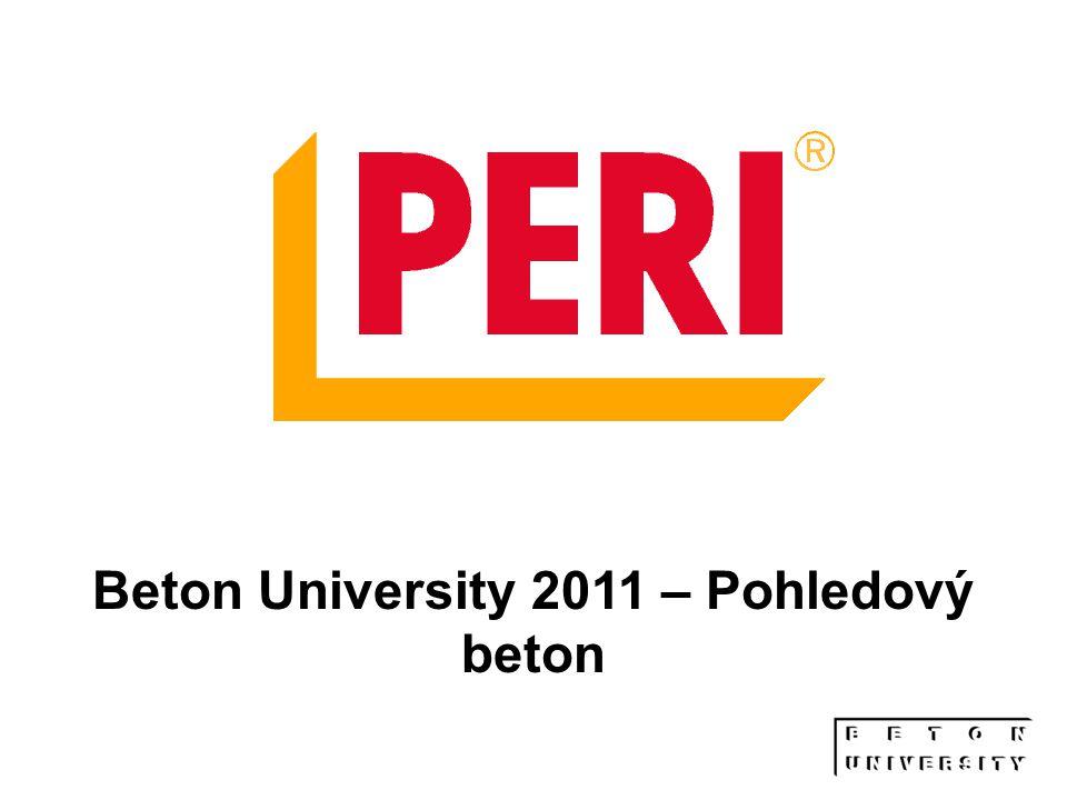 12 Děkuji za pozornost Ing. Petr Finkous www.peri.cz Beton University 2011 – Pohledový beton