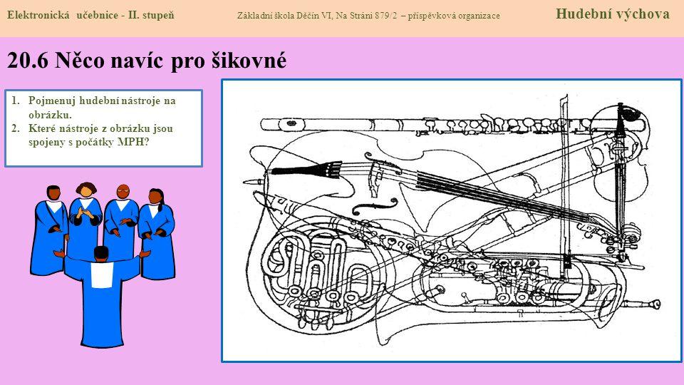 20.6 Něco navíc pro šikovné Elektronická učebnice - II. stupeň Základní škola Děčín VI, Na Stráni 879/2 – příspěvková organizace Hudební výchova 1.Poj