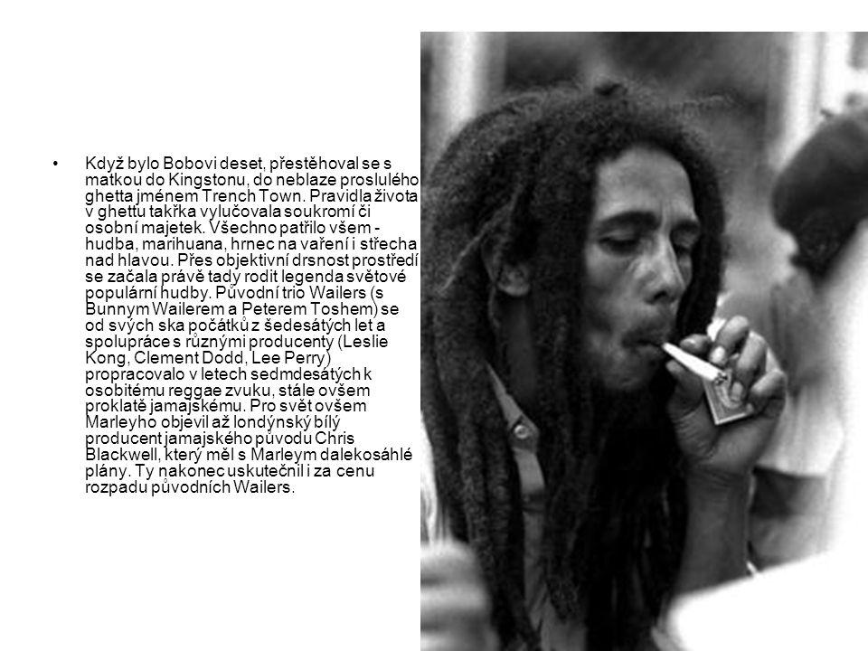 V roce 1976 už byl Marley mezinárodní hvězdou a boháčem nejen na jamajské poměry.