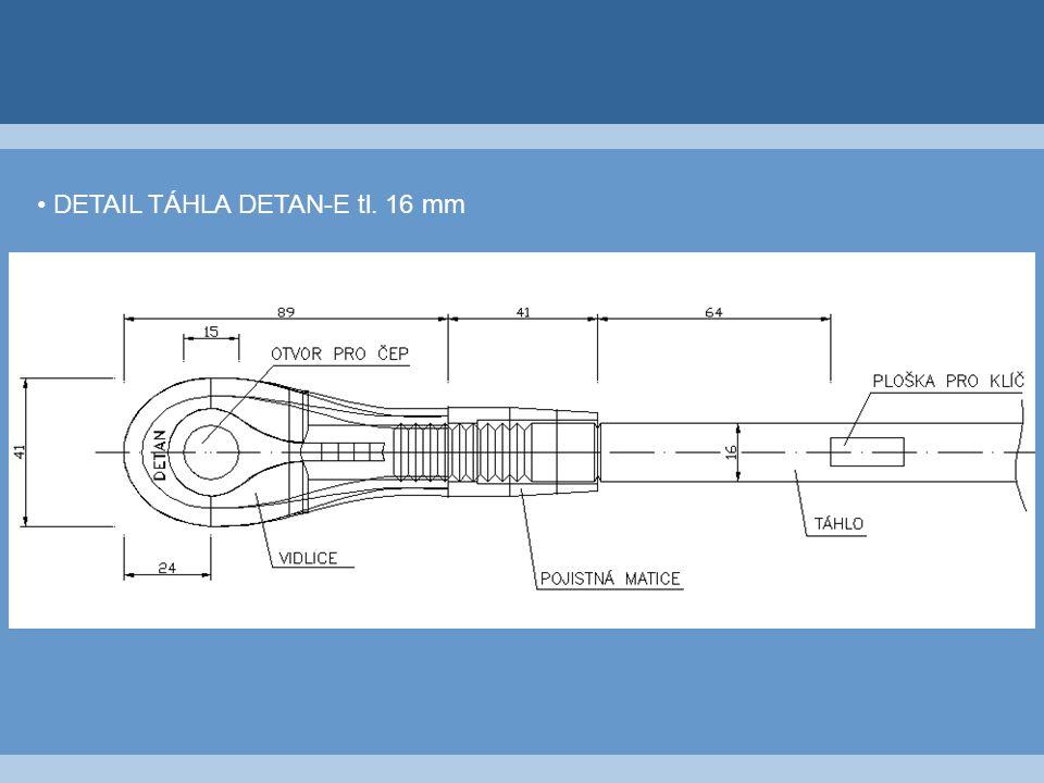 DETAIL TÁHLA DETAN-E tl. 16 mm