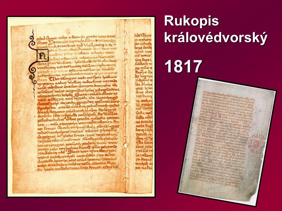 Rukopis královédvorský 1817
