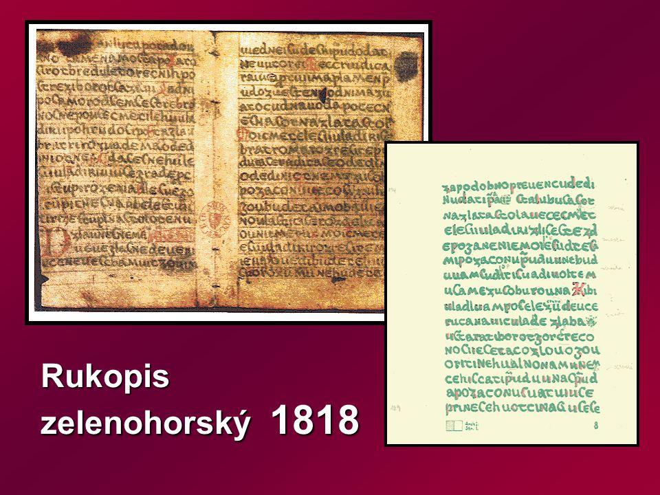 Rukopis zelenohorský 1818