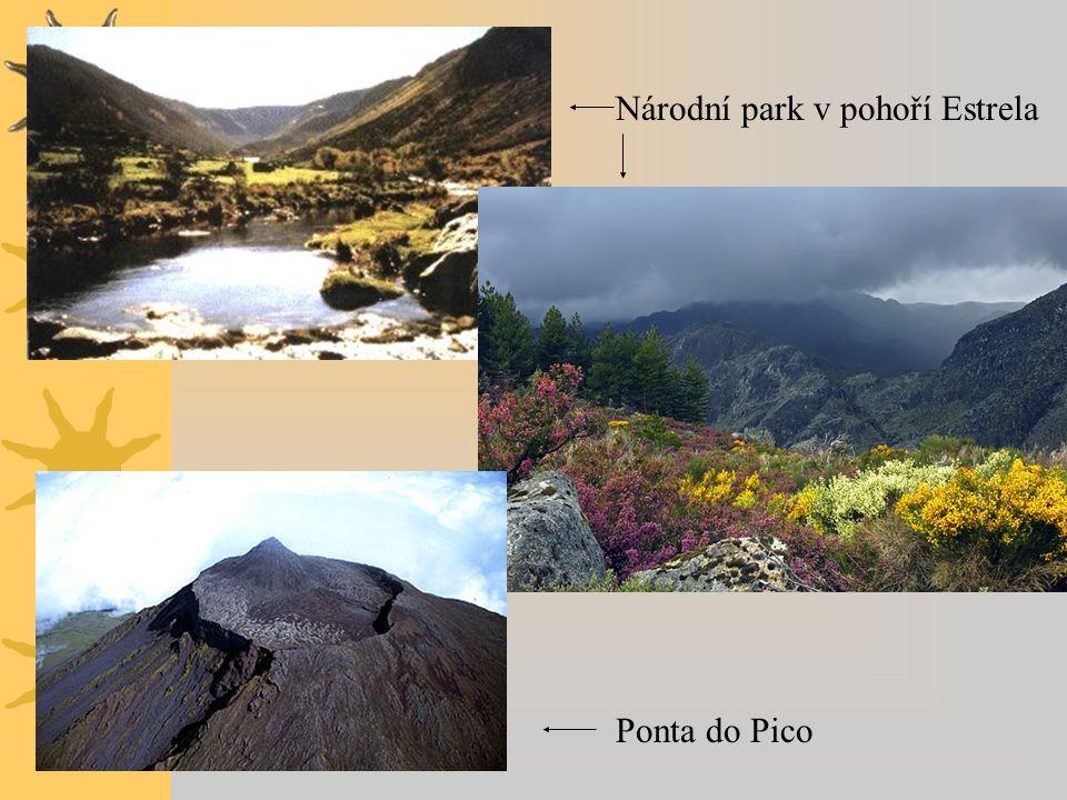 Ponta do Pico Národní park v pohoří Estrela