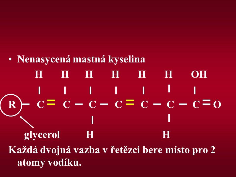 Štěpení triglyceridů Štěpení triglyceridů je katalyzováno enzymaticky lipázami.