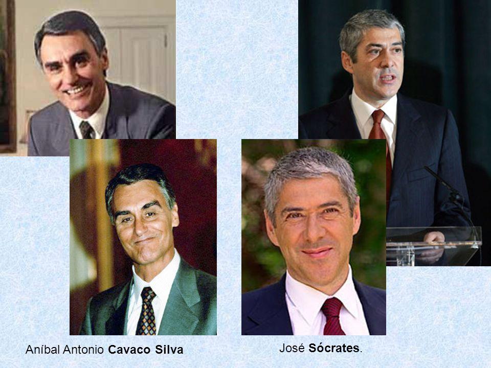 Aníbal Antonio Cavaco Silva José Sócrates.