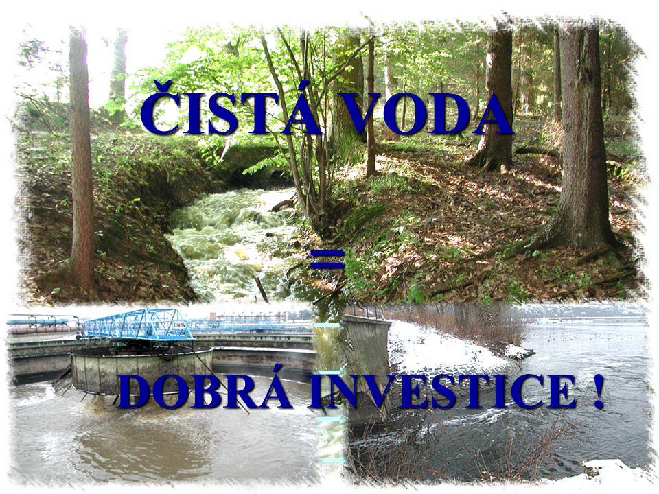 ČISTÁ VODA = DOBRÁ INVESTICE !