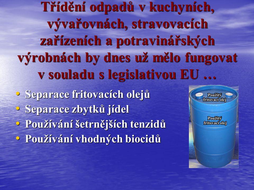 Současná legislativa Konec roku 2005 byl datem, kdy příslušné orgány Evropské unie na České republice vyžadovaly vyřešení problému odpadních vod.