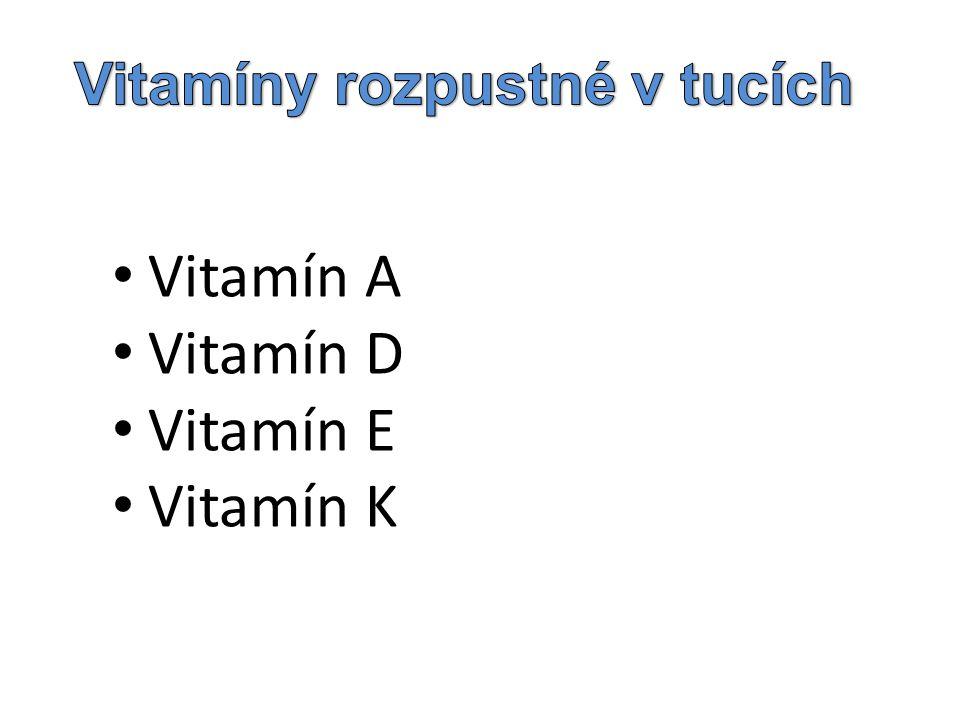 Vitamín A Vitamín D Vitamín E Vitamín K