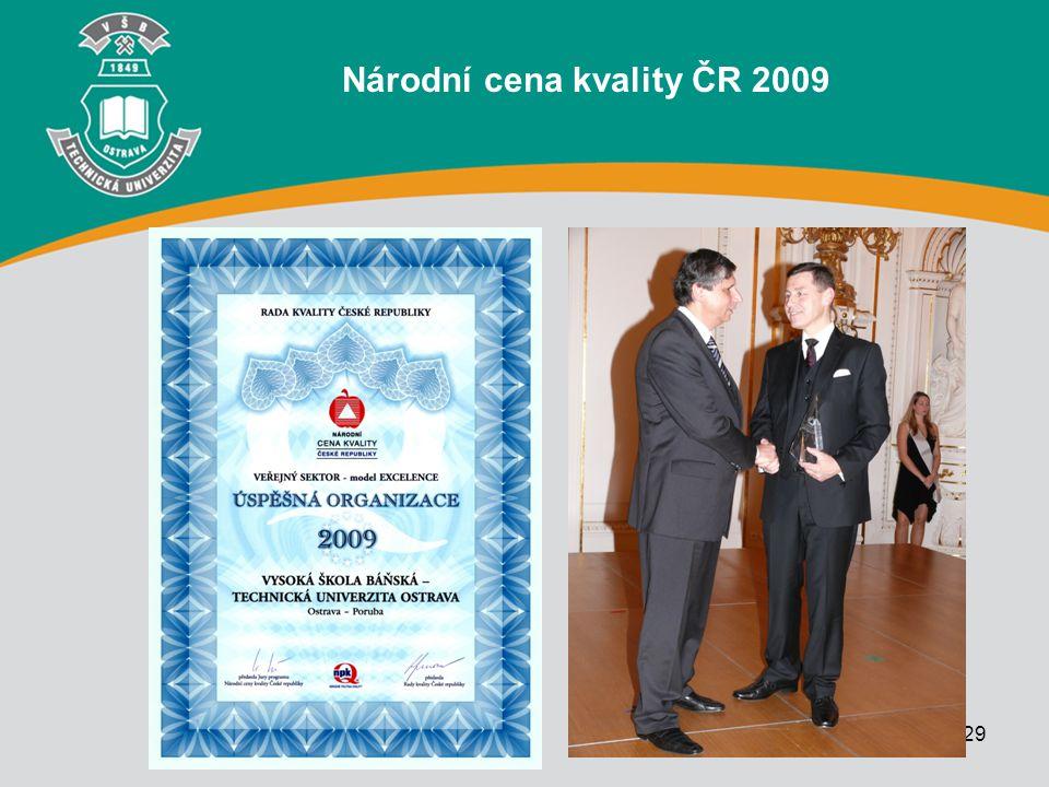 29 Národní cena kvality ČR 2009