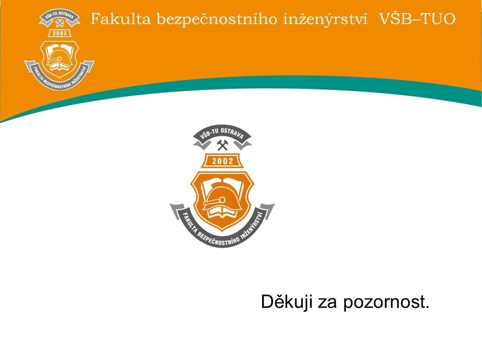Fakulta bezpečnostního inženýrství VŠB–TUO Děkuji za pozornost.