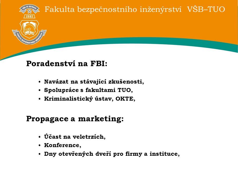 Fakulta bezpečnostního inženýrství VŠB–TUO Poradenství na FBI: Navázat na stávající zkušenosti, Spolupráce s fakultami TUO, Kriminalistický ústav, OKT