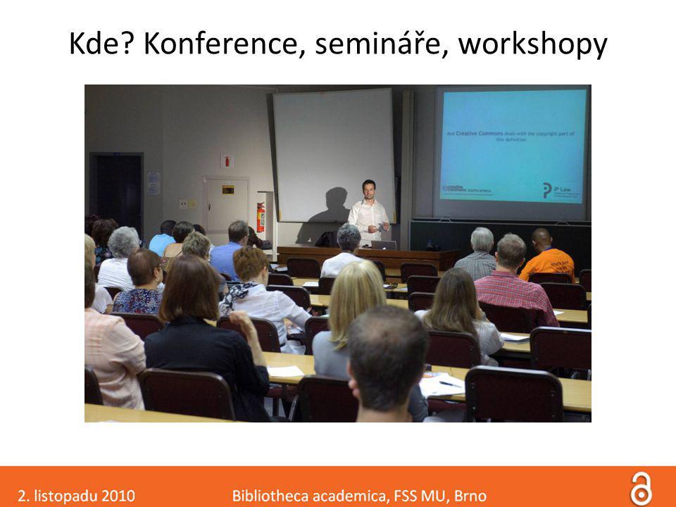 Kde Konference, semináře, workshopy