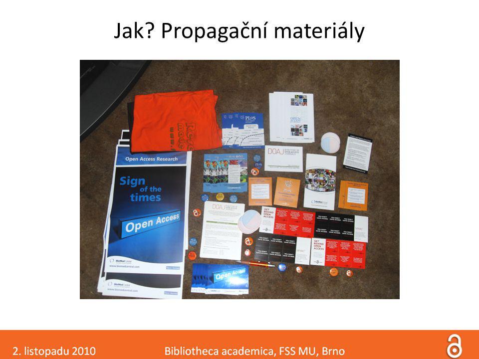 Jak Propagační materiály