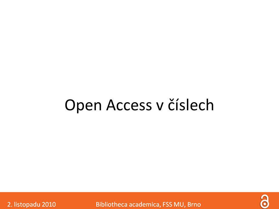 Open Access v číslech