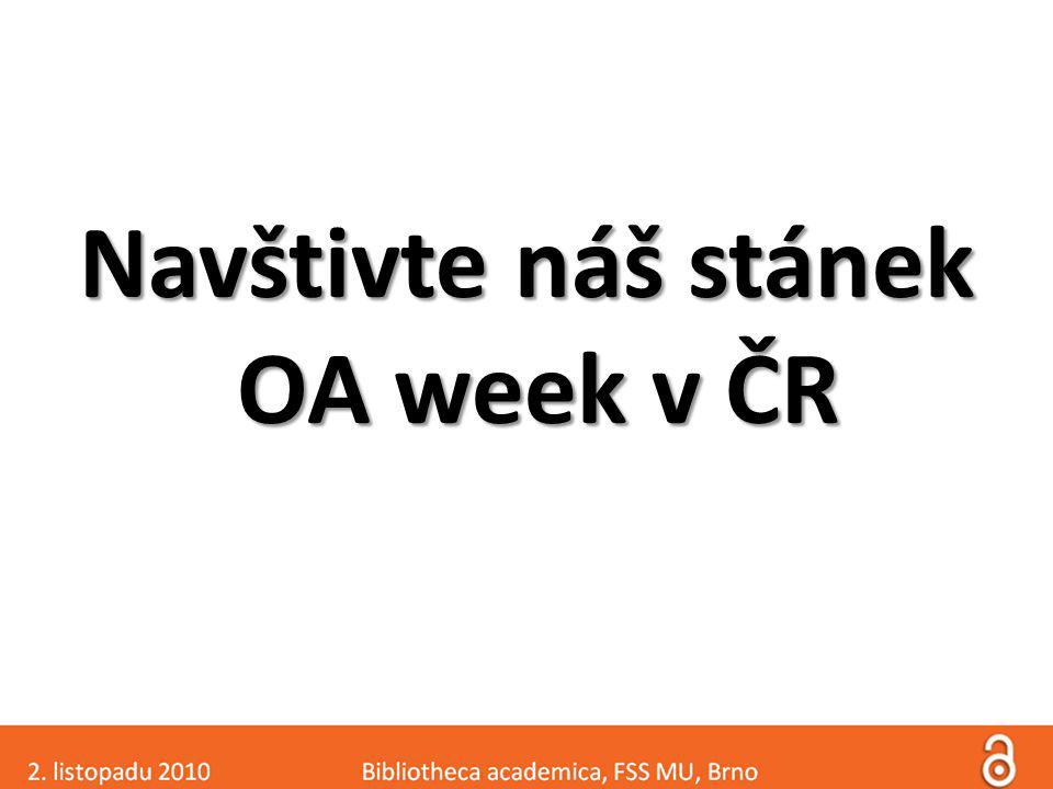 Navštivte náš stánek OA week v ČR