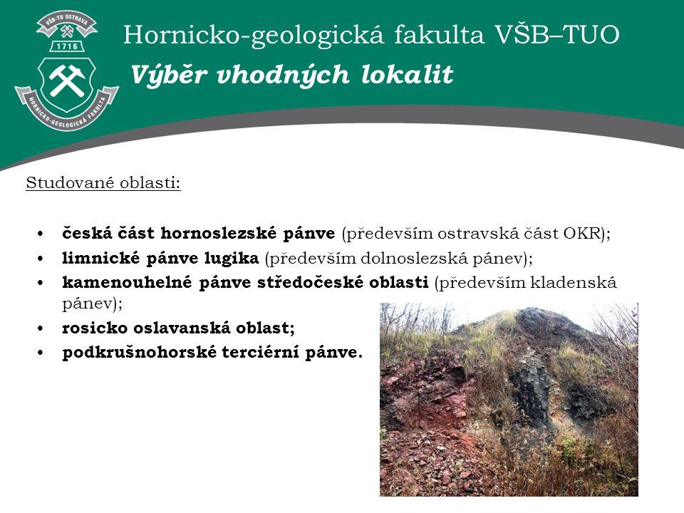 Hornicko-geologická fakulta VŠB–TUO Ostravská část OKR Vhodné lokality odval Dolu Heřmanice odval Dolu Heřmanice (17 mil.
