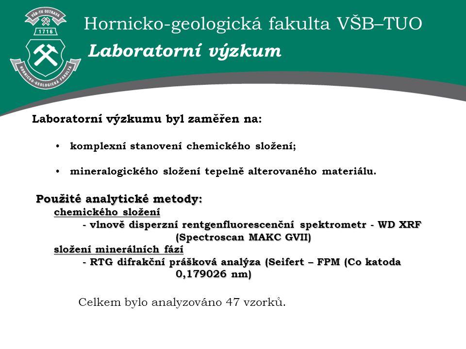 Hornicko-geologická fakulta VŠB–TUO Střední až nejvyšší stupeň tepelné alterace vykazují vzorky Heřmanice Hr-2 a Šverma Šv-1.