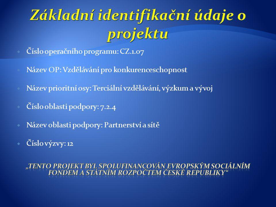 Konference: v záložce konference jsou uvedeny plné verze příspěvků z konferencí pořádaných jednotlivými spolupracujícími organizacemi: - VŠB – TUO – zahajovací konference, březen 2010 - VUT – Brno - březen 2011 - UTB – Zlín - březen 2011 - VOŠ, SOŠ, OU – Kopřivnice – květen 2011