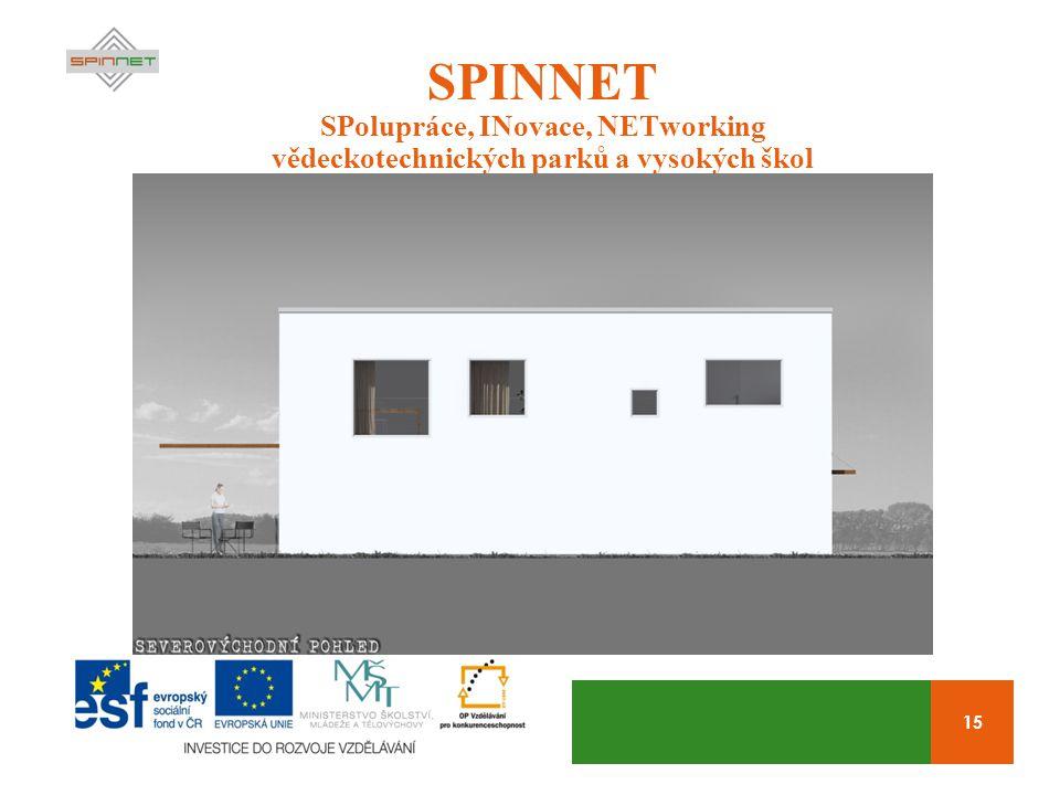 15 SPINNET SPolupráce, INovace, NETworking vědeckotechnických parků a vysokých škol