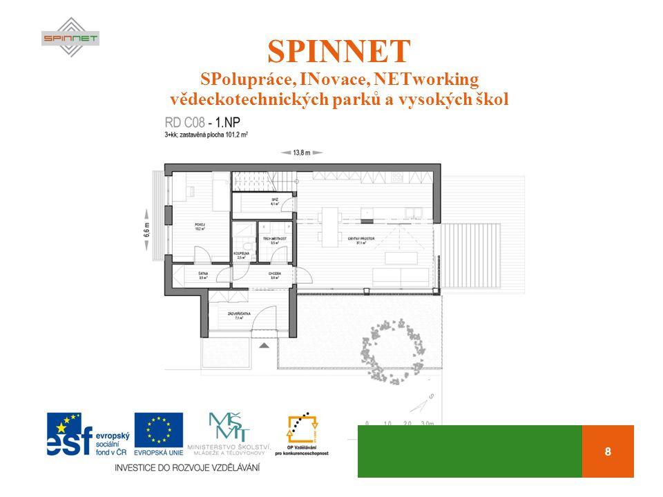 8 SPINNET SPolupráce, INovace, NETworking vědeckotechnických parků a vysokých škol