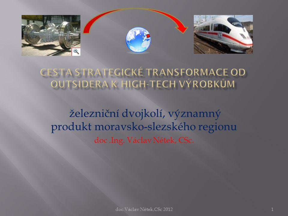 železniční dvojkolí, významný produkt moravsko-slezského regionu doc.Ing. Václav Nétek, CSc. doc.Václav Nétek,CSc 20121