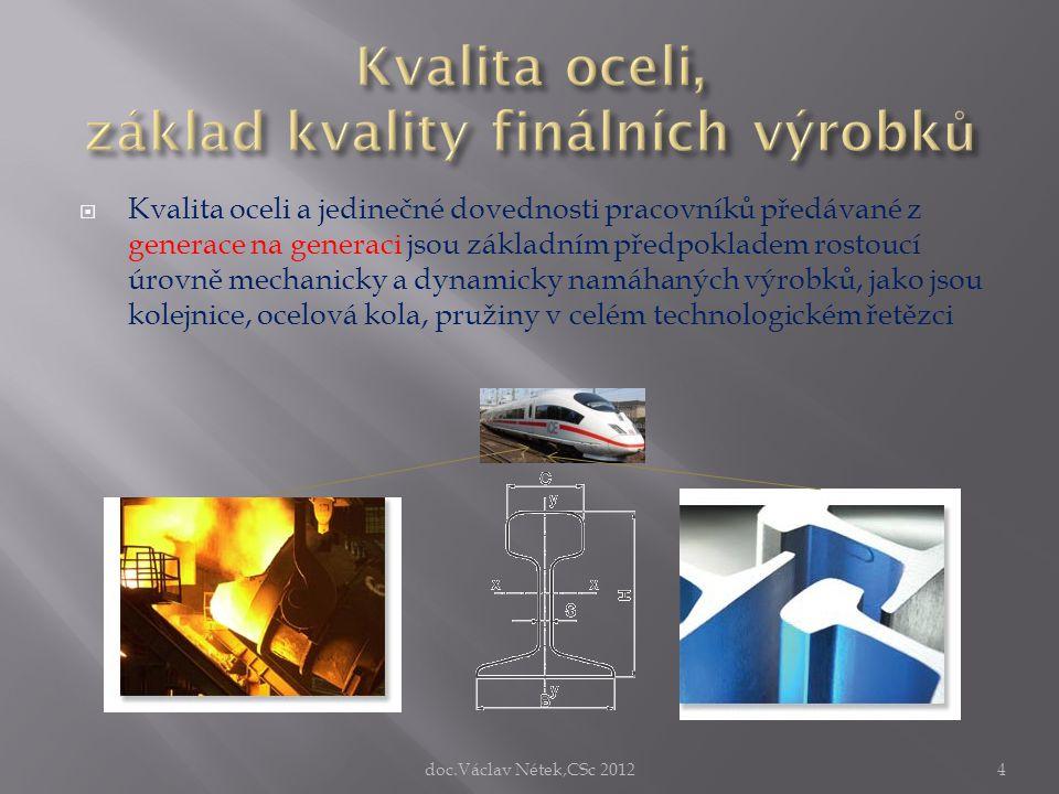  Kvalita oceli a jedinečné dovednosti pracovníků předávané z generace na generaci jsou základním předpokladem rostoucí úrovně mechanicky a dynamicky