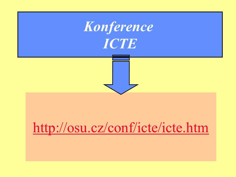 Ostrava 2001eLearning47 Konference ICTE http://osu.cz/conf/icte/icte.htm