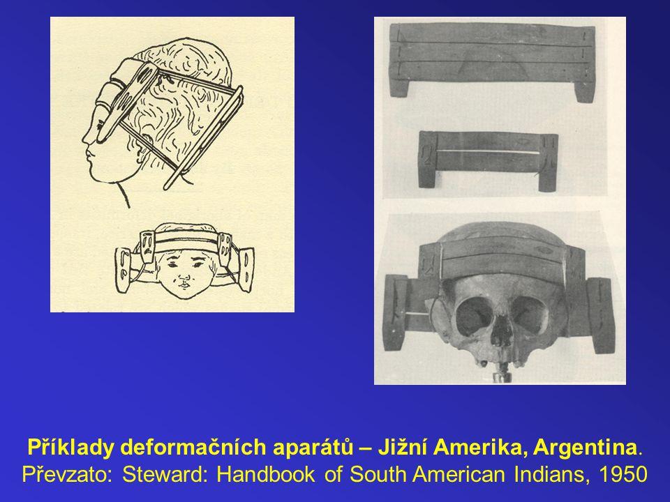 Příklady deformačních aparátů – Jižní Amerika, Argentina.