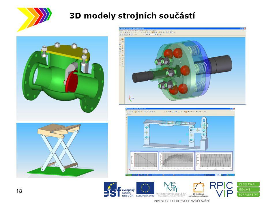 3D modely strojních součástí 18