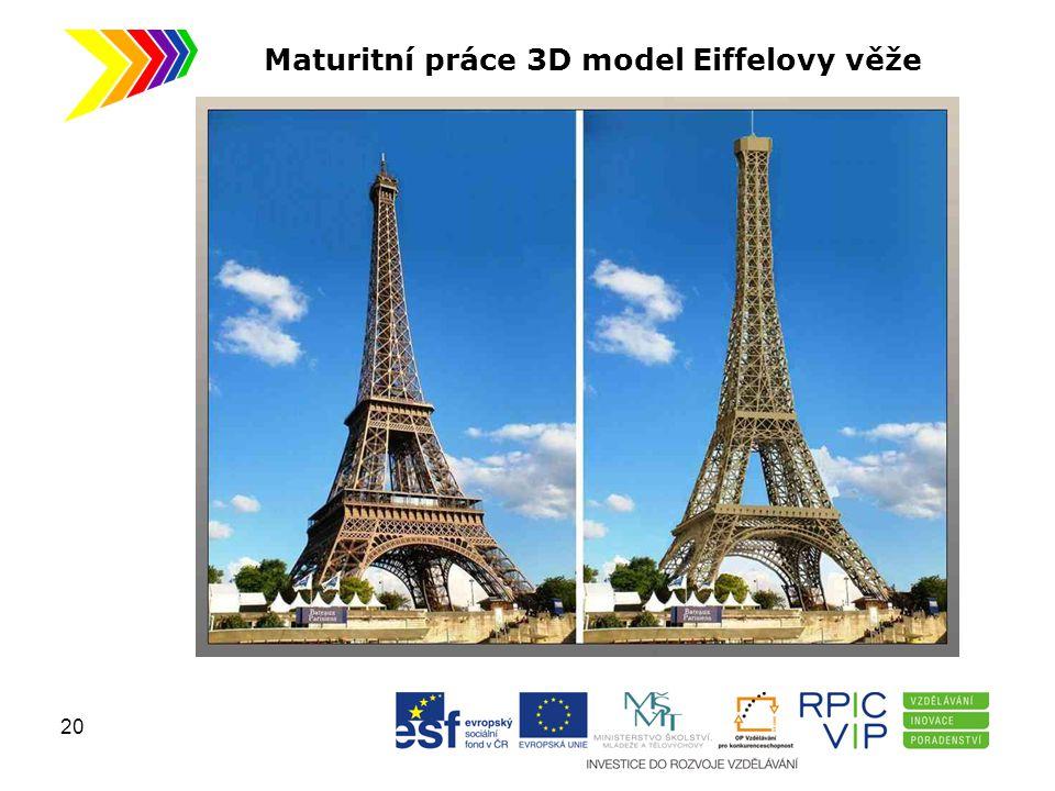 Maturitní práce 3D model Eiffelovy věže 20