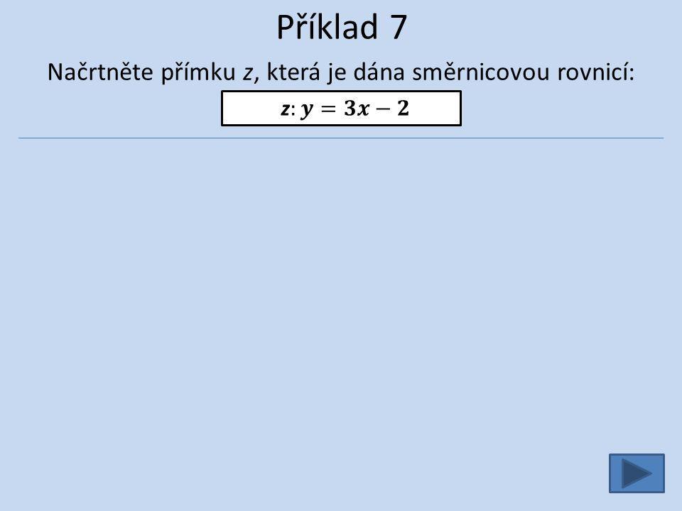 Příklad 7 Načrtněte přímku z, která je dána směrnicovou rovnicí: