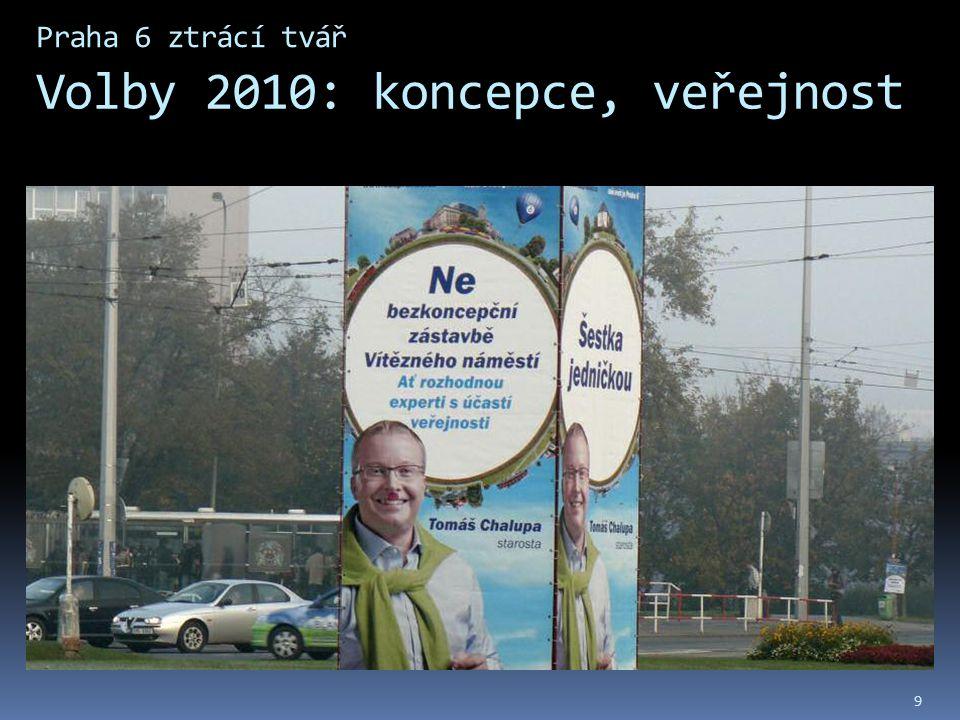 Praha 6 ztrácí tvář Volby 2010: koncepce, veřejnost 9