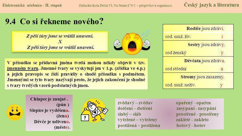 9.5 Procvičení a příklady Elektronická učebnice - II.